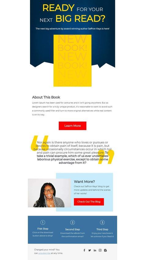 E-Book Launch - Email Template