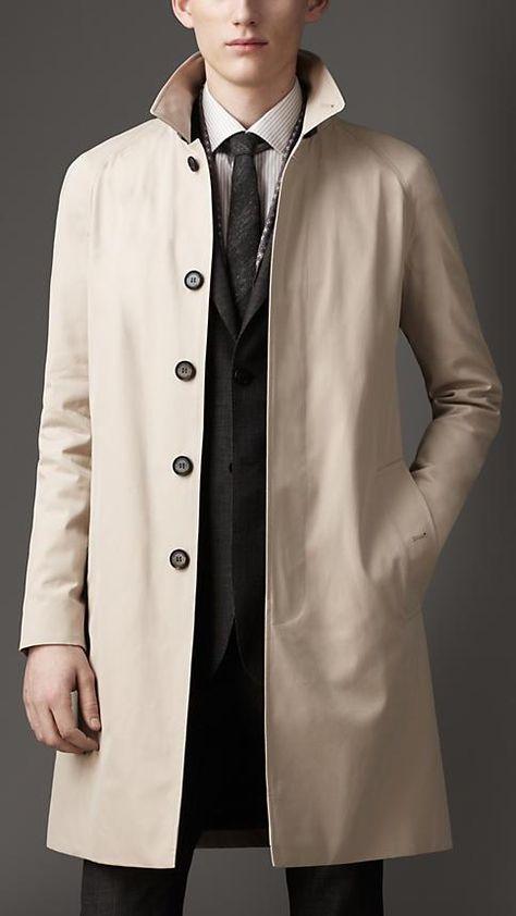 Burberry London Cotton Gabardine Car Coat. #Fashion is GREAT Britain!