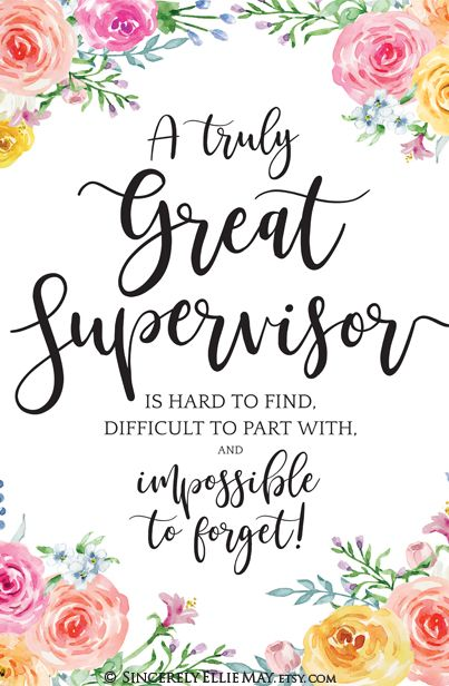Supervisor Retirement Gifts A Truly Great Supervisor Is Hard Etsy Teacher Appreciation Quotes Teacher Wall Art Goodbye Gifts
