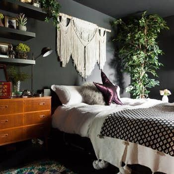 London House Tour A Dark Walled Uk Maximalist Home Apartment Therapy Decoratinghomeideascurtainrods Bohohome Bo Bedroom Design Bedroom Decor Boho Bedroom Dark bedroom ideas uk