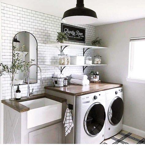 Farmhouse Kitchen, Laundry Makeover, Room Makeover, Home Remodeling, Laundry Room Makeover, Homey, Mud Room Storage, Room Design, Room Remodeling