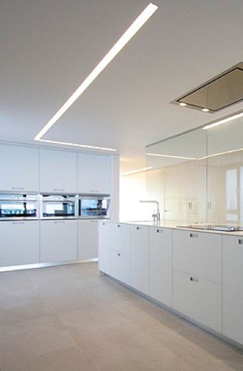 recessed ceiling strip light duplex by lluesma u0026 chiralt arquitectos kitchen pinterest ceiling on the beach and the beach
