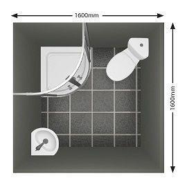 Small Bathroom Layout A 1 6m X 1 6m Ensuite Utilising A Corner Wc And Basin Bathroomdesign5x6 Bathr Small Shower Room Small Bathroom Layout Bathroom Layout