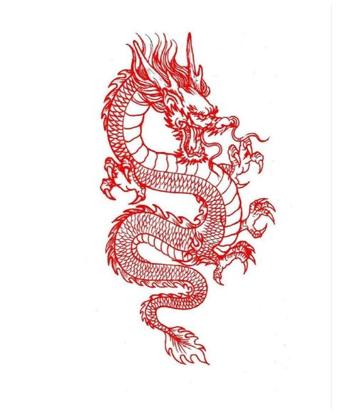 Dragon Tattoo Stencil, Dragon Tattoo Outline, Dragon Tattoo Drawing, Dragon Thigh Tattoo, Small Dragon Tattoos, Dragon Tattoo For Women, Japanese Dragon Tattoos, Tattoo Stencils, Dragon Tattoo Designs