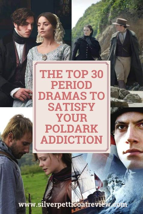 The Top 30 Period Dramas To Satisfy Your Poldark Addiction Poldark Season 4 is over. So, to fill the void of your Poldark addiction, here are 30 period dramas you can binge until Poldark's final season returns. Period Romance Movies, Period Movies, Best Period Dramas, British Period Dramas, Netflix Movies To Watch, Poldark, Tv Series To Watch, Drama Memes, Movies Worth Watching