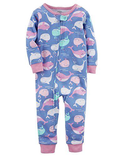 Simple Joys by Carters 3-Pack Snug Fit Footless Cotton Pajamas Beb/é-Ni/ñas