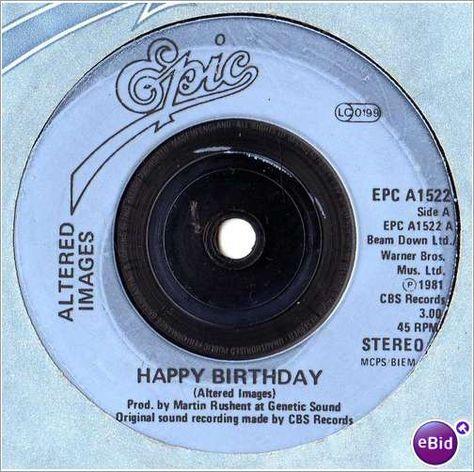 Altered Images Happy Birthday 1981 7 Vinyl Single Record
