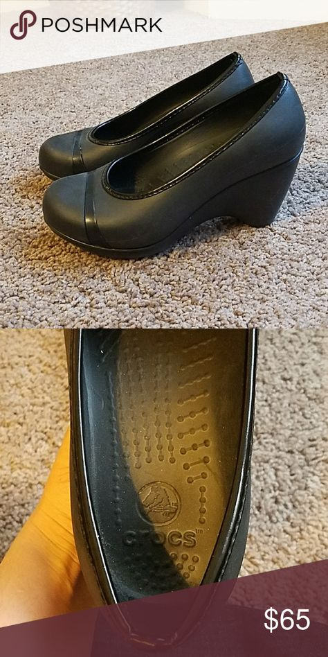 Shoes Crocs light-weight wedges