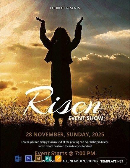 Church Event Flyer Templates Free Di 2020