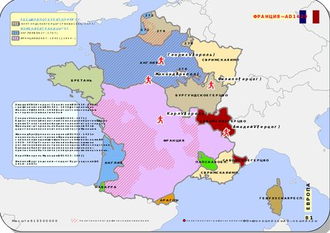 Map Of France 1500.Historical Map Of France Ad 1400 1500 1429 Na Karte