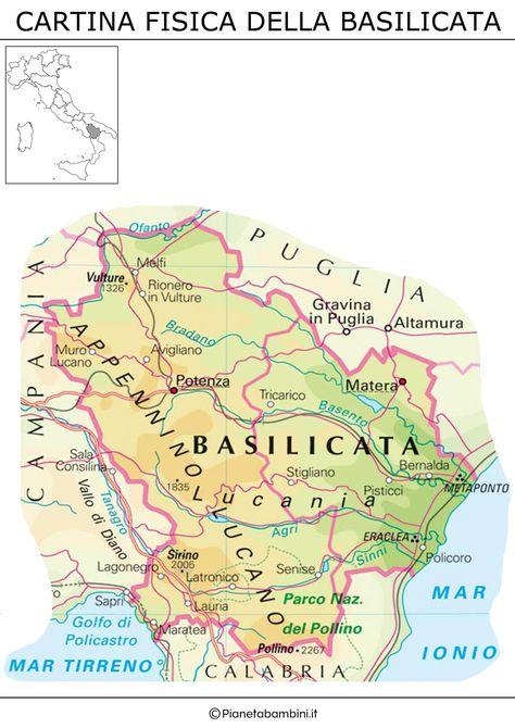 Cartina Fisica Muta Della Francia.Cartina Muta Fisica E Politica Della Basilicata Da Stampare