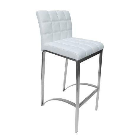Groovy Lincoln White Bar Stool Furniture Bar Stools White Bar Inzonedesignstudio Interior Chair Design Inzonedesignstudiocom