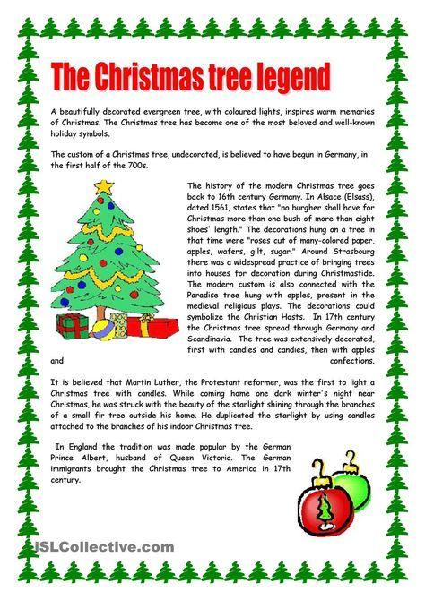 Christmas Tree Christmas Reading Comprehension Christmas Reading Christmas Pickle