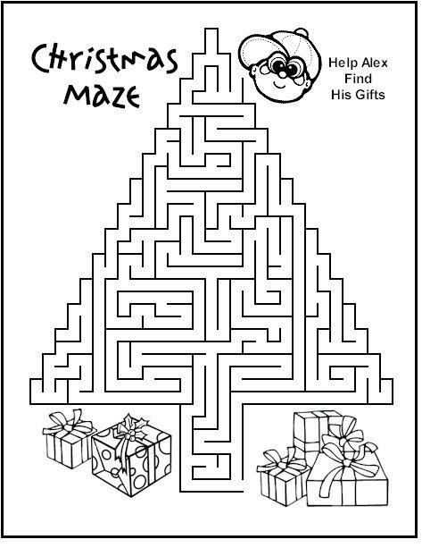 Christmas Mazes.Pinterest
