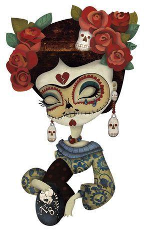 Resultado De Imagen Para Pinterest Catrinas Y Rosas Para