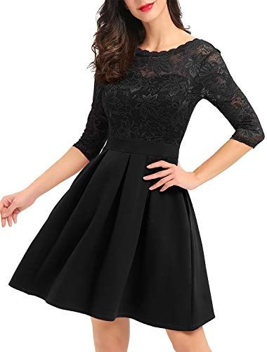 Formals and More in Black MIUSOL Vintage Fit and Flare Dress for Homecoming