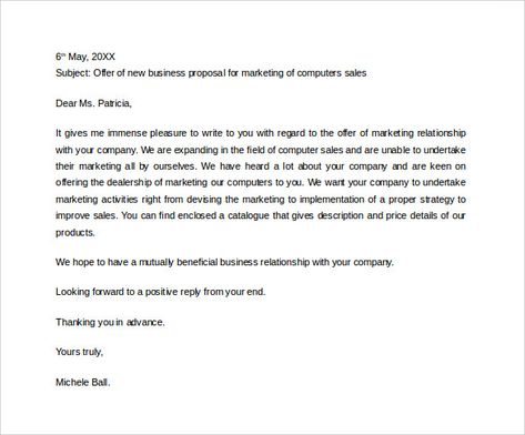 View New Sales Office Sample Proposal Proposals, Sample business - new business letter format date placement