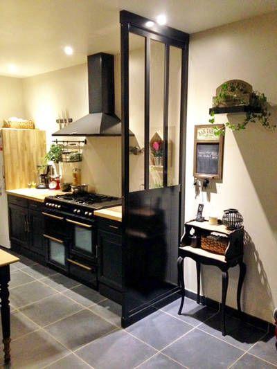 Relooking Total D Une Cuisine Angelique B Cote Maison Decoration Maison Cuisine Verriere