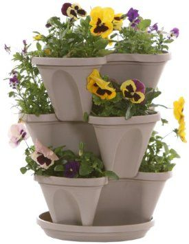 Natures Distributing 12 in 5 Tier Stacking Planters Terracotta