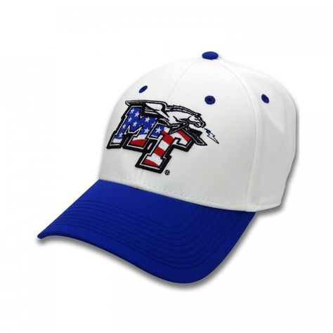 America is beautiful and so are the Blue Raiders! This MT Logo American Flag  fill hat allows you to show your patriotic side and your true blue side in  the ... 44e655cf92a