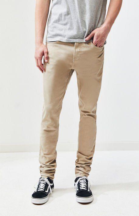 f7fa632854b23 Stacked Skinny Khaki Jeans in 2019 | jeans/joggers/shorts | Khaki ...
