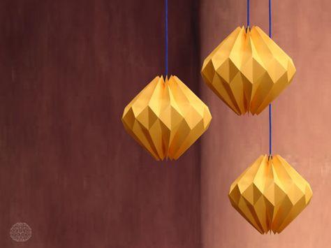 Moderne Lampen 77 : Moderne origami lampen zum hängen modern origami lamp light by