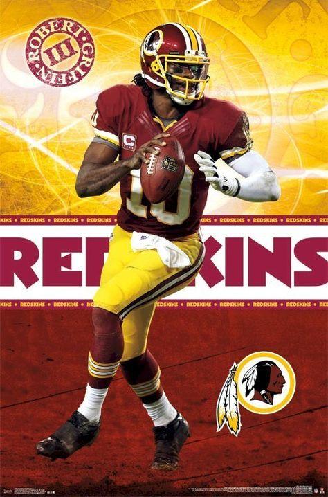 ROBERT GRIFFIN III POSTER ~ FOCUS 22x34 NFL Washington Redskins Football 2094