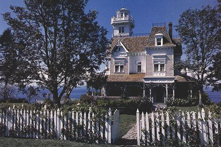 Garden gate and Exterior of the house from the movie Practical Magic.