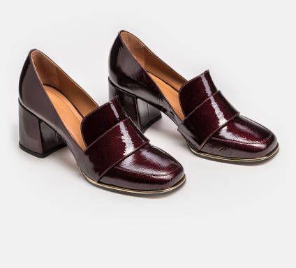 Czolenka Damskie Bordowe 34073 L0 06 Z Kolekcji 2018 2019 Sklep Internetowy Kazar Loafers Shoes Fashion
