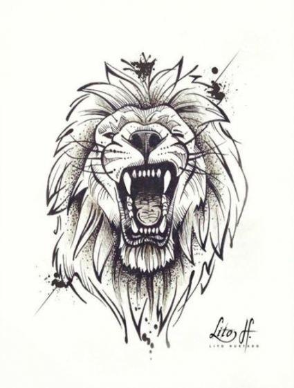 55 Ideas Drawing Sketches Tattoo Lion Tattoo Sketches Lion Tattoo Lion Tattoo Design