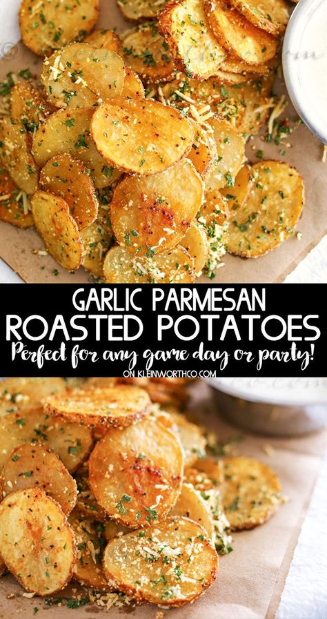 Parmesan Roasted Potatoes are just another one of my Easy Family Dinner Ideas that are simple to make. If you need easy side dishes this one is perfect. recipes for dinner Parmesan Roasted Potatoes Parmesan Bratkartoffeln, Garlic Parmesan Roasted Potatoes, Easy Roasted Potatoes, Healthy Potatoes, Easy Family Dinners, Family Dinner Ideas, Easy Family Dinner Recipes, Simple Meals For Dinner, Vegetarian Recipes