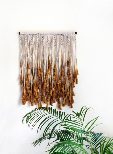 Perfect bohemian chic décor for your home. Large Hand Crafted Macrame Wall Hanging/Head Board. This beautiful piece is guaranteed to bring a sense of style and panache to your home. It is a gorgeous piece with hand dyed tassels in varying shades of Mustard. Every piece is made with pure