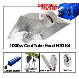 Yield Lab 1000w Hps Mh Cool Tube Hood Reflector Grow Light Kit Grow Lights Hps Grow Lights Grow Tent