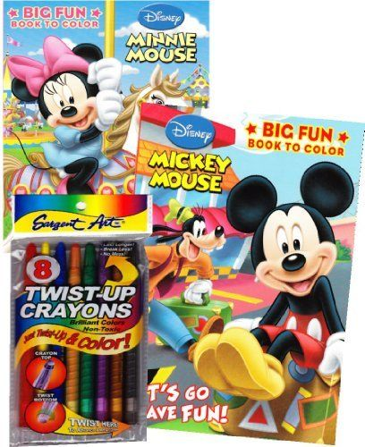 DISNEY Mickey And Minnie Mouse Coloring Book Set With Twist Up Crayons By Disney 1595 Delight Your Fan This Of Two