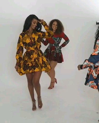 Short African Print dress Styles
