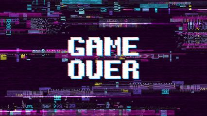Game Over Fantastic Computer Background With Glitch Noise Retro Effect Vector Screen Backgrounds Computer Wallpaper Desktop Wallpapers Glitch Wallpaper Computer Backgrounds