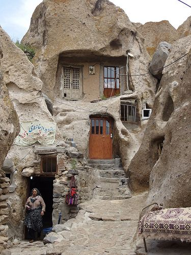 Kandovan Ancient Rocky Village East Azerbaijan Iran Middle East The Middle, Naher Osten, Iran, Haus Stile Winter Home Decor, Winter House, The Middle, Middle East, Casa Dos Hobbits, Travel To Saudi Arabia, In Dubai, Jordan Travel, Unusual Buildings