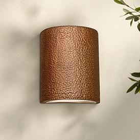 Quoizel Danville 14 1 2 High Aged Copper Outdoor Wall Light 46c06 Lamps Plus Copper Wall Light Wall Lights Outdoor Wall Lighting