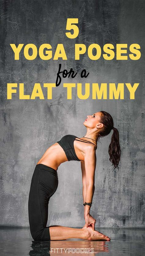 5 Yoga Poses For A Flat Tummy - Image For Pinterest