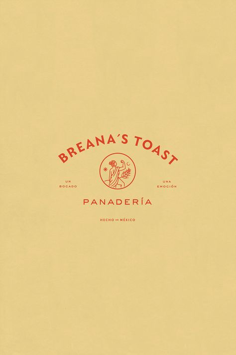 Breana´s Toast — bakery is part of Graphic design branding - Branding & Packaging for breana´s toast, retail bakery company in Mexico Logo Branding, Bakery Branding, Bakery Logo Design, Logos Vintage, Logos Retro, Retro Font, Web Design, Design Blog, Corporate Design