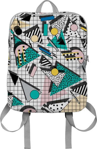 retro geometric print BACKPACK created by Camille Walala