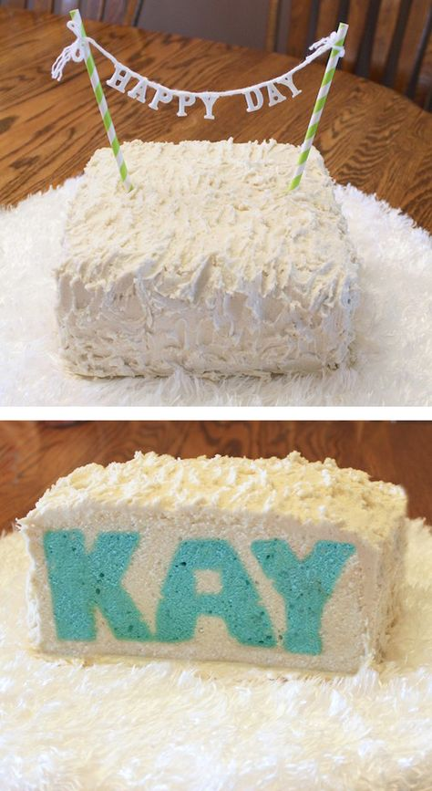How to bake a cake with a name (or any other word) baked into it.