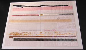 """""""Kurzfilm 1967"""" geschweißte Plastikhülle mit Multi-media Füllung      handsigniertes und numeriertes Multiple Exemplar  123 / 150 Die Foliengröße ist ca. 41 x 30 cm.  Diese Grafik war Bestandteil einer Künstlermappe, die 1968 unter dem Namen *KUNSTMARKT 68* herausgegeben wurde."""