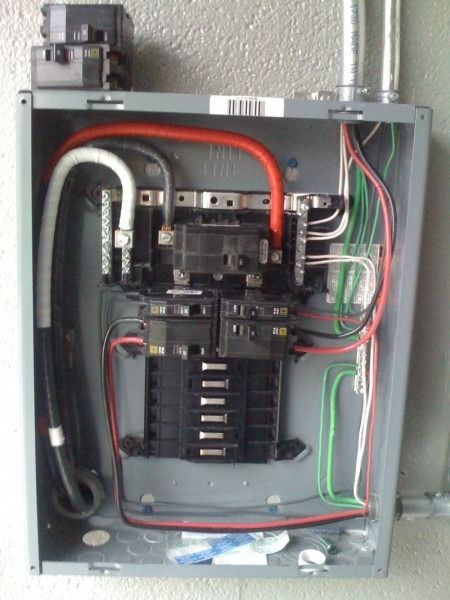 How To Wire 100 Amp Subpanel Diagram Breaker Box Paneling Wire