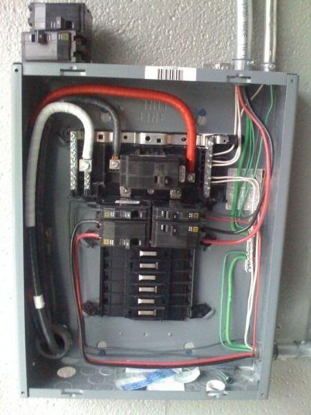how to wire 100 amp subpanel diagram  breaker box paneling
