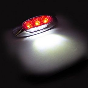 5 Led Reflector Clearance Marker Light Red Led Clear Lens In 2020 Red Led Reflectors Light Red