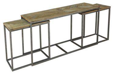 3 Plexiglas Bijzettafeltjes.Nesting Console Tables Set Of 3 1 569 00 Console Table Living