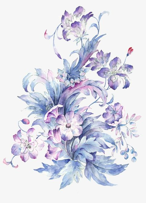Small Fresh Hand Painted Watercolor Flower