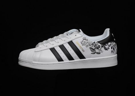 adidas flower embroidered shoes