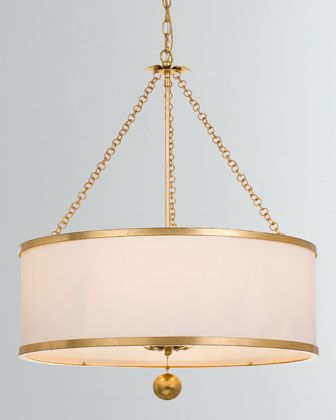 Crystorama Broche 6 Light Antiqued Gold Chandelier Gold